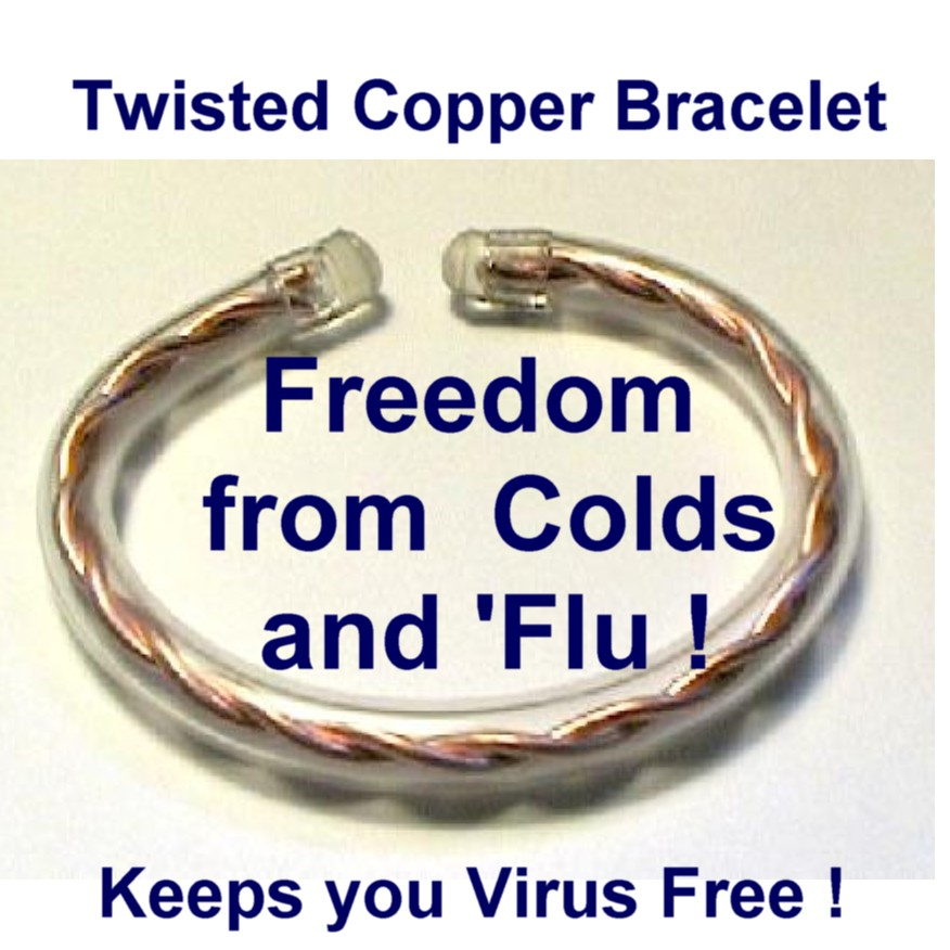 Twisted Copper Bracelet, keeps you free from colds and flu