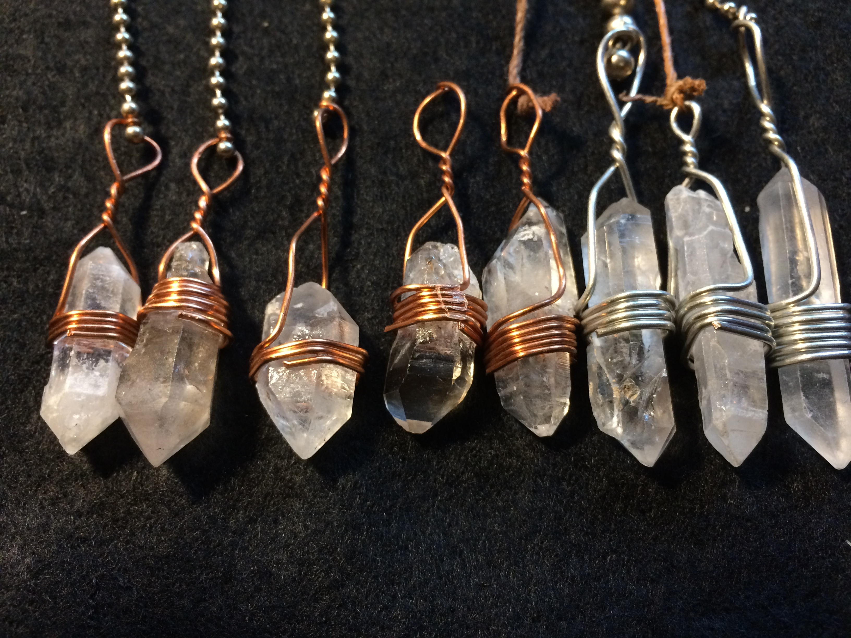 Quartz Pendulum, Double Terminated